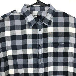 John Varvatos Size XL Mens Shirt Blue Gray